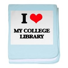 I love My College Library baby blanket