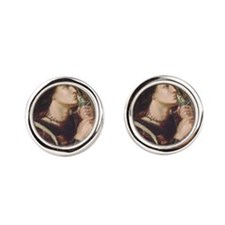Joan of Arc by Rossetti Round Cufflinks