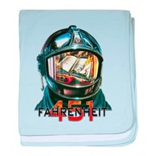 Fahrenheit 451 Fireman baby blanket