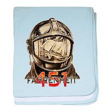 Fahrenheit 451 Fireman Grunge baby blanket