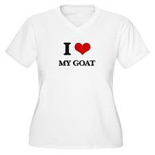 I Love My Goat Plus Size T-Shirt