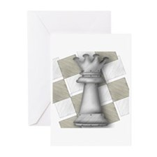 Chess The Most Poweful Piece Greeting Cards (Packa