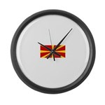 Macedonia.jpg Large Wall Clock