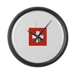 Swizterland.jpg Large Wall Clock