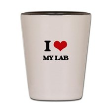I Love My Lab Shot Glass