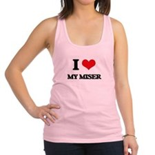 I Love My Miser Racerback Tank Top