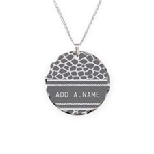 Personalized Name Animal Pri Necklace