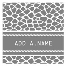 Personalized Name Animal Pr 5.25 x 5.25 Flat Cards