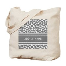 Personalized Name Animal Print Tote Bag
