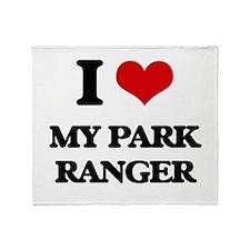 I Love My Park Ranger Throw Blanket