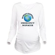 World's Happiest Eme Long Sleeve Maternity T-Shirt
