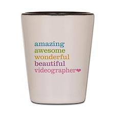 Videographer Shot Glass