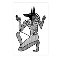Anubis - Eqyptian Diety Postcards (Package of 8)