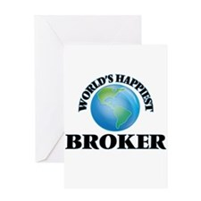 World's Happiest Broker Greeting Cards