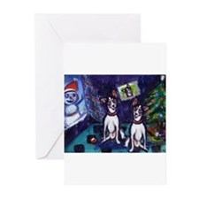 Cute Rat terrier christmas Greeting Cards (Pk of 20)
