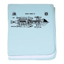 Space: 1999 - Hawk Mark IX baby blanket