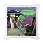 Spaced-Out Vegan Woven Throw Pillow