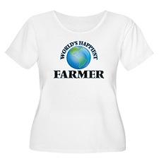 World's Happiest Farmer Plus Size T-Shirt