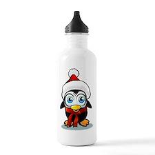 Penguin Santa Water Bottle