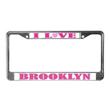 I Love Brooklyn License Plate Frame