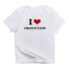 I Love Orangutans Infant T-Shirt
