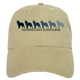 Norwegian Elkhound (blue colo Baseball Cap
