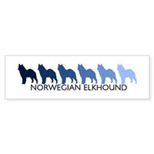 Norwegian Elkhound (blue colo Bumper Bumper Sticker