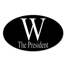 W The President Oval Decal