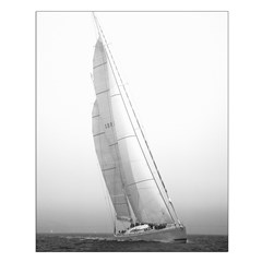 borderlerless sailing prints Small Poster