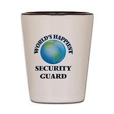 Cute Guard job security Shot Glass