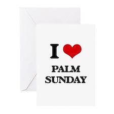 I Love Palm Sunday Greeting Cards