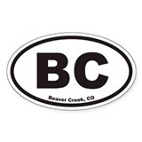 Beaver Creek Colorado BC Euro Oval Bumper Stickers