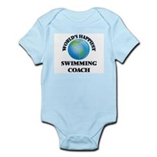 World's Happiest Swimming Coach Body Suit