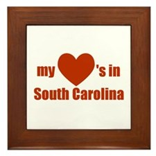 South Carolina Framed Tile