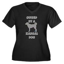 Unique Pet Women's Plus Size V-Neck Dark T-Shirt