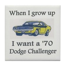 Unique Dodge challenger Tile Coaster