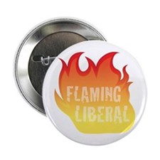 Flaming Liberal Button