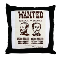 Jesse & Frank James Throw Pillow