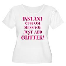 Customized Instant Glitter Plus Size T-Shirt