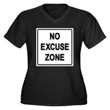 No Excuse Zo Women's Plus Size V-Neck Dark T-Shirt