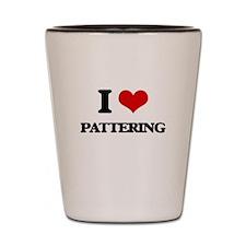I Love Pattering Shot Glass