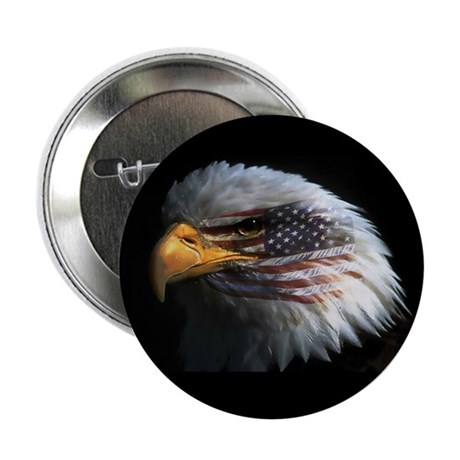 "American Flag Eagle 2.25"" Button (10 pack)"