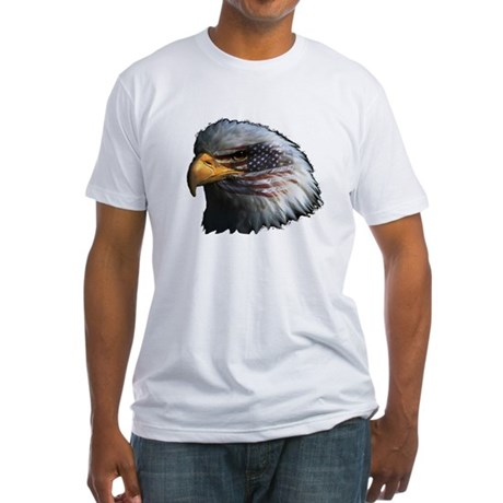 American Flag Eagle Fitted T-Shirt