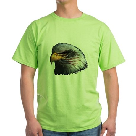 American Flag Eagle Green T-Shirt