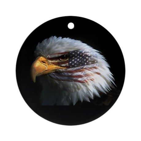 American Flag Eagle Ornament (Round)