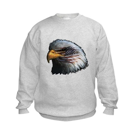 American Flag Eagle Kids Sweatshirt