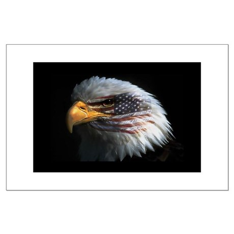 American Flag Eagle Large Poster