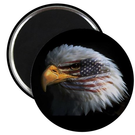 "American Flag Eagle 2.25"" Magnet (100 pack)"