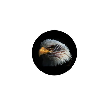 American Flag Eagle Mini Button (100 pack)