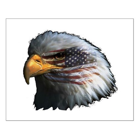 American Flag Eagle Small Poster